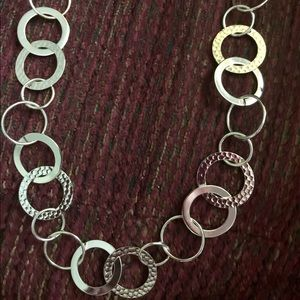 """Jewelry - 18"""" NEW Silver Circle Necklace."""